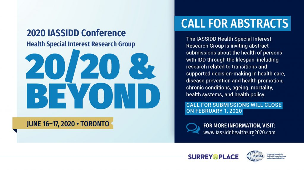 Call for Abstracts Poster for 2020 IASSIDD Conference